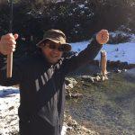 尺代漁業協同組合の渓流釣り場でアマゴ・ニジマス釣り